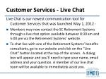 customer services live chat