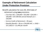 example of retirement calculation under protection provision1