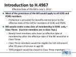 introduction to h 4967 effective date of the bill is july 1 2012