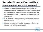 senate finance committee recommendations may 3 2012 continued1
