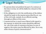 4 legal notices