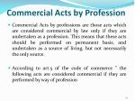 commercial acts by profession