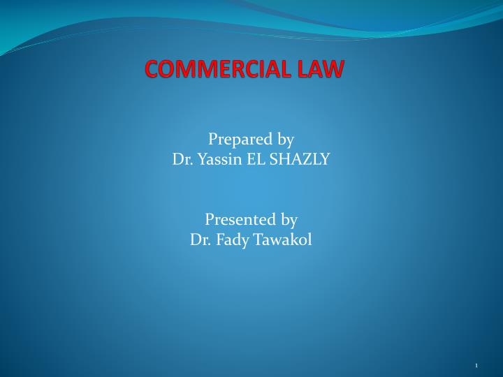 commercial law n.