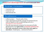historical development of commercial law