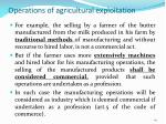 operations of agricultural exploitation1