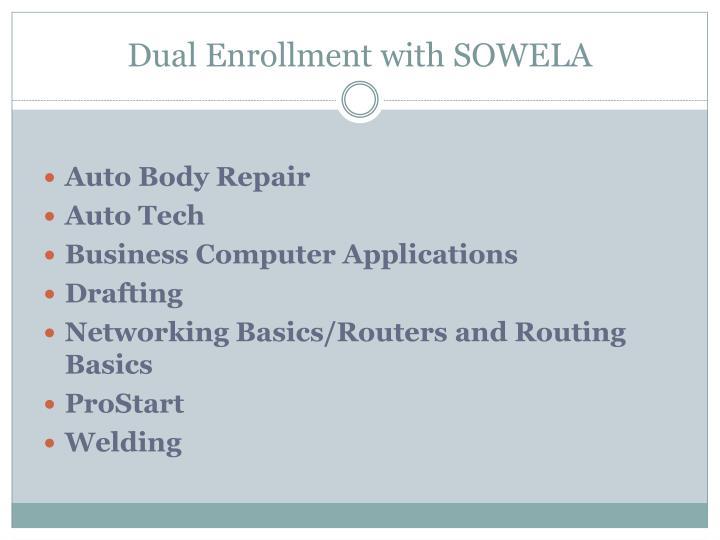 Dual Enrollment with SOWELA