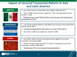 impact of secured transaction reform in asia and latin america