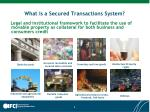 what is a secured transactions system