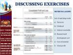 discussing exercises