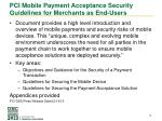 pci mobile payment acceptance security guidelines for merchants as end users