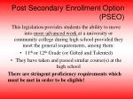post secondary enrollment option pseo