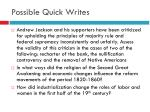 possible quick writes