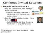 confirmed invited speakers1
