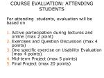 course evaluation attending students