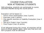 course evaluation non attending students