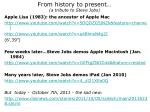 from history to present a tribute to steve jobs