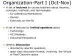 organization part i oct nov