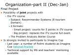 organization part ii dec jan3