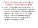 careers guidance and inspiration in schools published april 2014