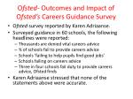 o fsted outcomes and impact of o fsted s careers guidance survey