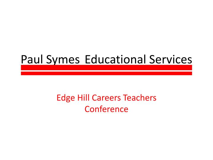 paul symes educational services