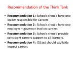 recommendation of the think tank