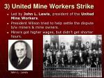 3 united mine workers strike