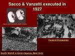 sacco vanzetti executed in 1927