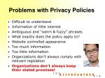 problems with privacy policies