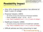readability impact ieee security privacy 2004 and 2006