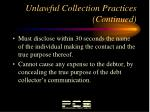 unlawful collection practices continued5