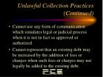 unlawful collection practices continued7