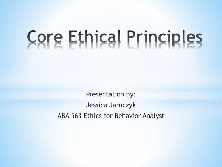core ethical principles n.