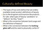 culturally defined beauty