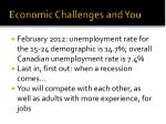 economic challenges and you