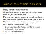 solutions to economic challenges