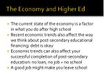 the economy and higher ed