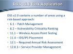 dss v2 0 risk application