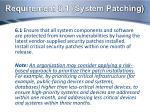requirement 6 1 system patching