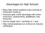 advantages for high schools