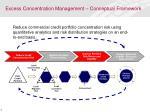 excess concentration management conceptual framework
