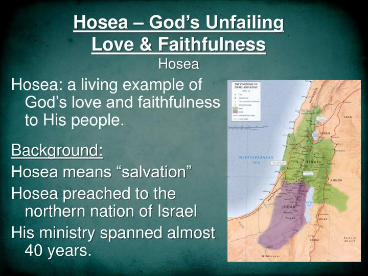 hosea god s unfailing love faithfulness hosea