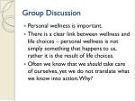 group discussion