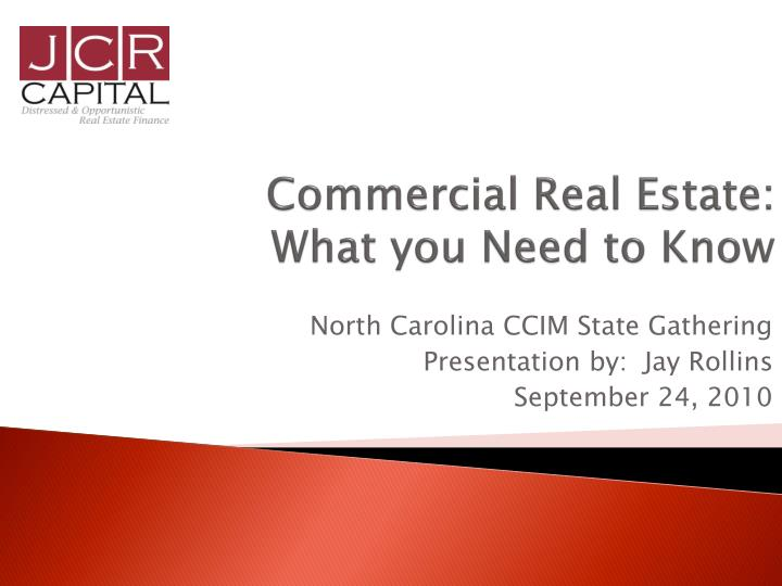 commercial real estate what you need to know n.