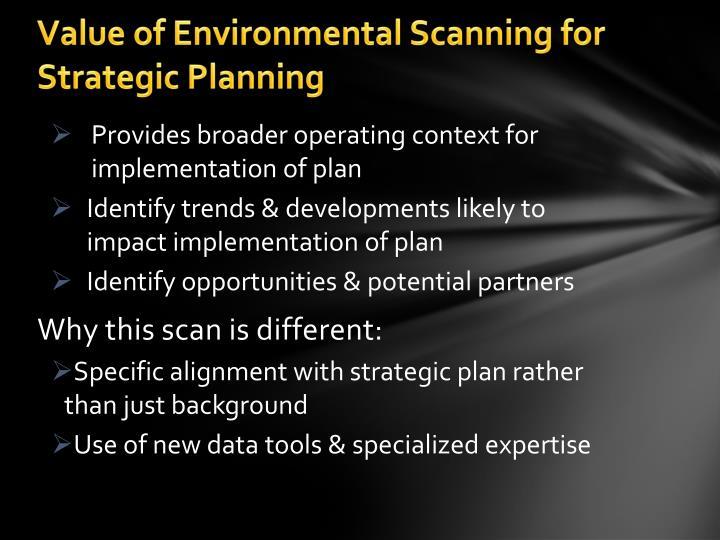 environmental scanning tools