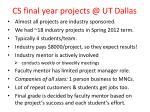 cs final year projects @ ut dallas