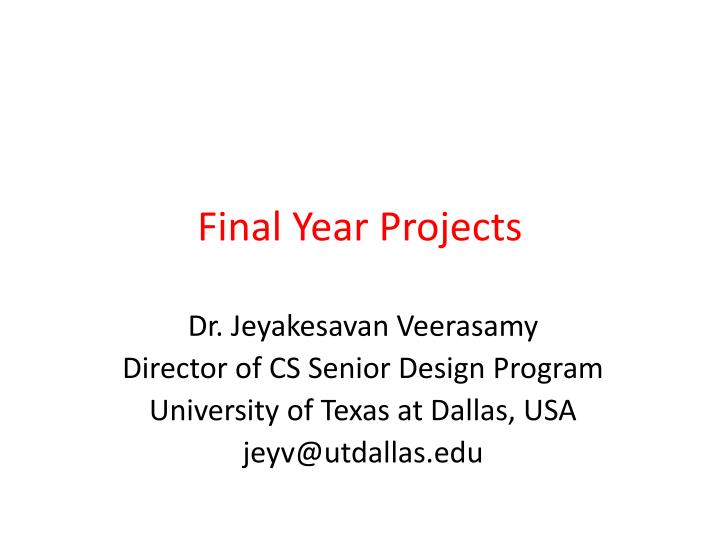 final year projects n.