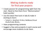 making students ready for final year projects