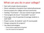 what can you do in your college