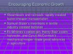 encouraging economic growth